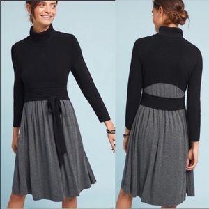 Anthro Moth Ballet Knit Dress Size Small Black